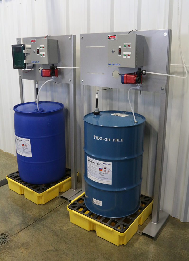 Miura's chemical control system offers accurate administration of BOILERMATE® levels to monitor and protect your steam boiler.