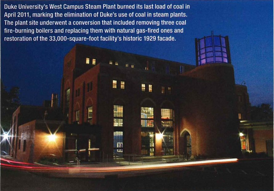 Duke University Plants Blow Off Steam — With Natural Gas